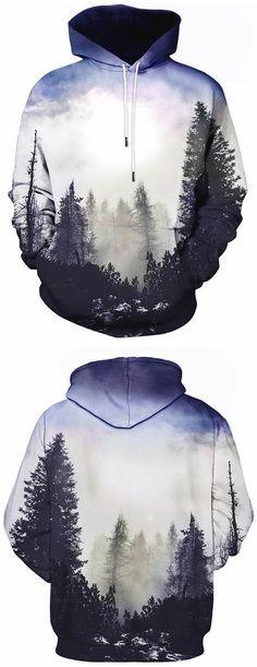 hoodies for men:Kangaroo Pocket Drawstring Hoodie