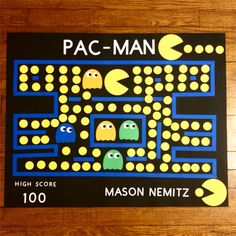 100 Days Of School Project Kindergartens, 100 Day Of School Project, School Projects, Pac Man, 100th Day, Elementary Schools, The 100, Crafts For Kids, Poster