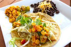 Fish tacos w/ Cilantro-Jalapeno Sauce