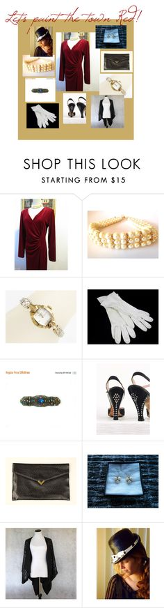 A Night on the Town by oldsowell on Polyvore featuring vintage, ladiesfashion and ladiesaccessories