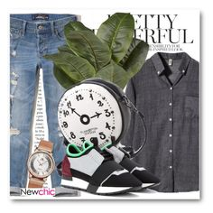 """NewChic !"" by dianagrigoryan ❤ liked on Polyvore featuring Hollister Co. and Balenciaga"