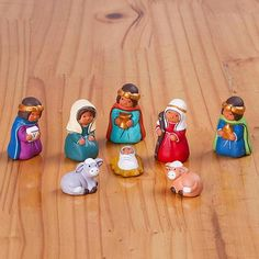 Hand-Painted Traditional Ceramic Nativity Scene from Peru
