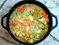 spring chicken stew.