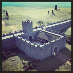 Digital reconstruction of Hadrian's Wall mile castle (Roman)