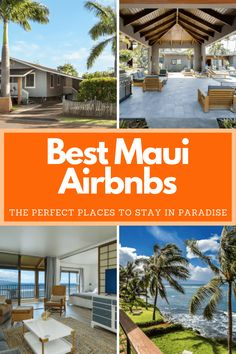 Maui has some incredible resorts, but there is nothing like having your own place in paradise. Here are the top 13 Airbnbs of Maui. Hawaii Vacation, Hawaii Travel, Travel Usa, Travel Tips, Maui Rentals, Old Lahaina Luau, Amazing Destinations, Travel Destinations, Romantic Getaways