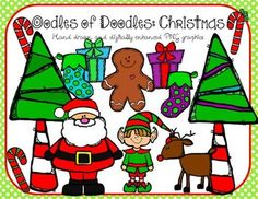 Oodles of Doodles: Santa and Elf Christmas Clip Art  $