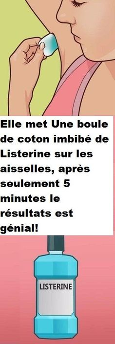 She puts A cotton ball soaked with Listerine on the armpits, after only 5 minutes the results are great! Listerine, Revenge Body, Body Challenge, Diy Hairstyles, Beauty Secrets, Nail Care, Deodorant, Home Remedies, How To Lose Weight Fast