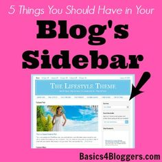 5 Things You Should Have in your Blog's Sidebar