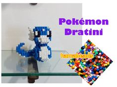 3D perler beads hama beads pyssla Pokemon Dratini assembly