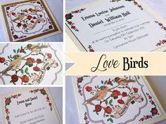 2012/2013 New Collection Love Birds www.weddingstationery.co.uk