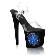Light-up & Neon Reactive Stripper Shoes and High Heels
