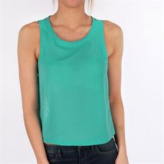 Lush Juniors Woven Tank with Button Down Lace Back