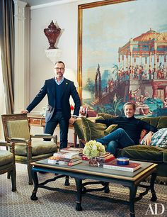 James Costos And Interior Decorator Michael S. Smith At Home In Spain