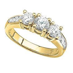 14K Yellow Gold 3-Stone Engagement Ring.    http://www.thediamondstore.com/products/engagement-rings/14k-yellow-gold-3-stone-engagement-ring-%7C-ash24201/6-698
