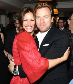 Julia Roberts and Ewan McGregor at the August: Osage County Soho House party #TIFF13