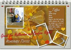 Homemade bonfire toffee Bonfire Toffee, Homemade Toffee, Golden Syrup, Smile, Halloween, Cute, Kawaii, Spooky Halloween, Laughing