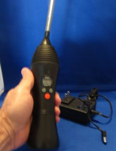 Vapir NO2 Vaporizer: Portable vaporizer with a rechargeable battery and digital temperature control.  Costs $180