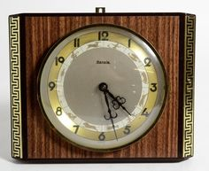 Vintage Hermle Zodiac Signs Battery Wall Clock 2 Jewels Gong Germany 9x7.5 Apprx