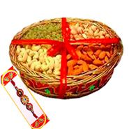 Rakhi With Mixed Dry Fruits with Same Day Rakhi Delivery