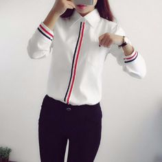 Cheap women shirts, Buy Quality top elegant directly from China ladies formals Suppliers: Work Wear Women Shirt Chiffon Blusas Femininas Tops Elegant Ladies Formal Office White Blouse Long Sleeve Girls Shirts Mode Outfits, Fashion Outfits, Formal Shirts, Mode Hijab, Chiffon Shirt, Casual Tops, Shirts For Girls, Shirt Blouses, Blouse Designs