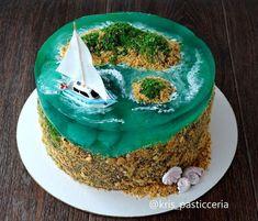 Ocean Cakes, Beach Cakes, Boat Cake, Island Cake, Jello Cake, Watercolor Cake, Bird Cakes, Just Cakes, Cake Decorating Techniques