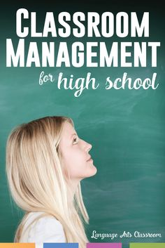 High school classroom management ideas for a successful school year with older students.