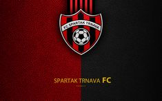 Download wallpapers FC Spartak Trnava, FC, 4k, Slovak football club, logo, leather texture, Fortuna liga, Trnava, Slovakia, football