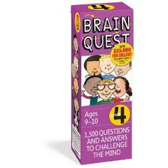 Brain Quest Grade 4, revised 4th edition: 1,500 Questions and Answers to Challenge the Mind. Price: 	$9.56