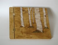 Personalized Aspen Tree Wooden Wedding Guest Book Memory Album