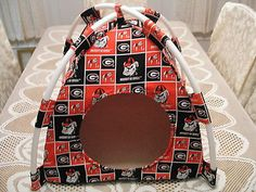 Beds Hammocks and Nesters 149074: Sm Handmade Georgia Bulldogs Fabric Pup Tent Pet Bed/Doll Tent/Cat Bed/ Dog Bed BUY IT NOW ONLY: $30.0