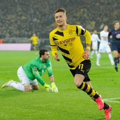 After scoring his 50th goal in Borussia Dortmund's jersey.