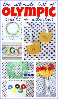 The ULTIMATE list of Olympic crafts and activities for kids! - The ULTIMATE list of Olympic crafts and activities for kids! Olympic Games For Kids, Olympic Idea, Kids Olympics, Summer Olympics, Office Olympics, Preschool Crafts, Crafts For Kids, Preschool Ideas, Toddler Crafts
