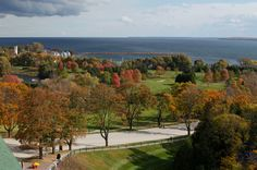 Grand Hotel Mackinac Island -mackinac island - America's True Grand Hotel - during Fall