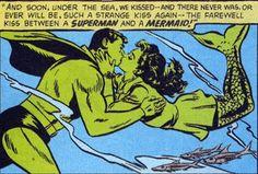 superman mermaid kiss