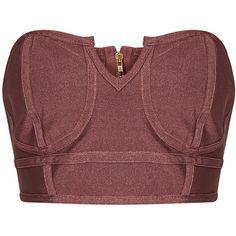 Caitlyn Rose Premium Bandage Bandeau Bralet (€22) ❤ liked on Polyvore featuring intimates, bras, bandeau bras, bandage bra and bralette bras