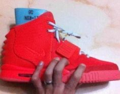 324f7ad23005a Nike Air Yeezy 2 Red Hip Hop Sneakers