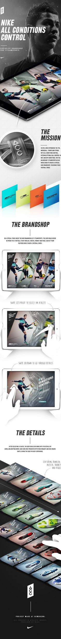 Nike Football – All Conditions Control Brandshop on App Design Served