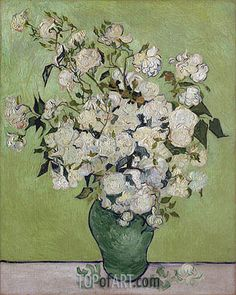 A Vase of Roses Vincent van Gogh art for sale at Toperfect gallery. Buy the A Vase of Roses Vincent van Gogh oil painting in Factory Price. Vincent Van Gogh, Art Van, Flores Van Gogh, Van Gogh Still Life, Van Gogh Flowers, Flowers Vase, Floral Flowers, Van Gogh Arte, Van Gogh Pinturas