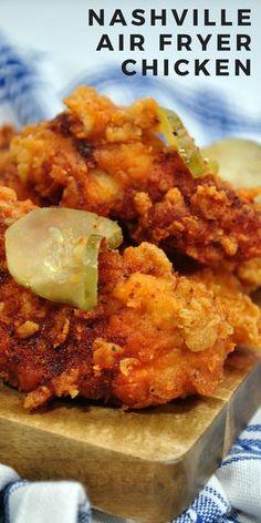 Nashville chicken air fryer recipe. Spicy crunchy chicken in the air fryer. #airfryer #friedchicken #chickenrecipe #easyrecipe