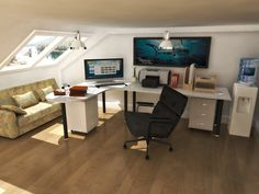 low attic ceiling room ideas - Google Search