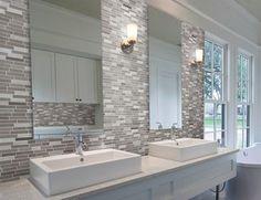 Résultats de recherche d'images pour « mosaic bathroom tile splashback »