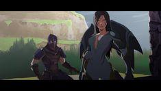 Fan art of League of legends, screenshot style by artist artofpipeur Light And Shadow, League Of Legends, Batman, Fan Art, Animation, Deviantart, Superhero, Artist, Fictional Characters