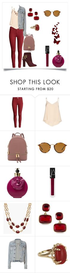"""""""Casual"""" by megeller ❤ liked on Polyvore featuring H&M, Alice + Olivia, Ray-Ban, Valentino, NARS Cosmetics, Talbots, Lauren Ralph Lauren, rag & bone, Vintage and Aquazzura"""