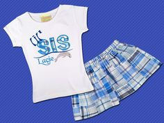 Girl's Little Sister Dolphin Top with Name and by SunbeamRoad, $44.50