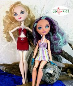 OOAK - handgefertigte Unikate von up4kids  Beach Set 25 -   passend für Ankleidepuppen wie Monster High, Ever After High, Bratz uvm  Lieferumfang: 3 Teile: 1 Oberteil, 1 Rock, 1 Kleid  Foreign...