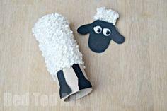TP Roll Shaun the sheep Craft ideas