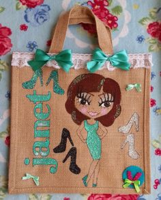 Small Jute Bag - MADE TO ORDER - The Supermums Craft Fair