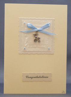 Handmade Card - New Baby Boy £2.50