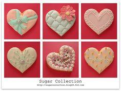 various heart cookies decoration idea