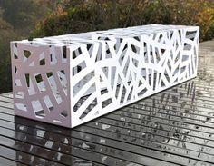Obligato bench powdercoated white